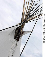 Tepee Top - Top of tepee in Indian Village during Calgary...