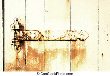Old Background - Old hinge and rust.