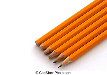 Pencil evolution - A transition from new to a sharpened...