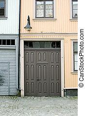 Street Detail in Gamlebyen, Fredrikstad Norway