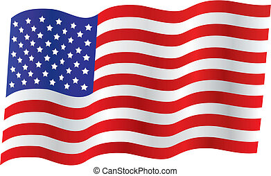 Traditional US Flag - Traditional american flag waving in...