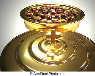 Communion - Tray of Communion wine glasses