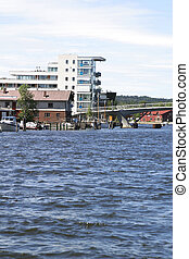 Glommen River Fredrikstad - River, and apartments in...