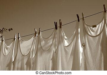 lunes, -, lavadero, día