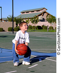 I Can Do This - Boy shooting a basket