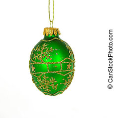 Christmas Ornament6 - Isolated green christmas ornament