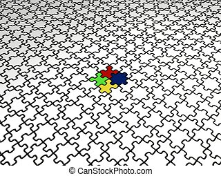 Perspective Puzzle 2 - Perspective Puzzle floor with...