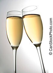 Champagne Toast - Champagne glasses being clinked