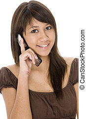 Teen On Phone 1 - A pretty young woman using her phone