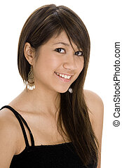 Youthful 6 - A pretty young teenager in a black top and a...