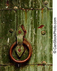 600 years - Fragment of an old monastery door
