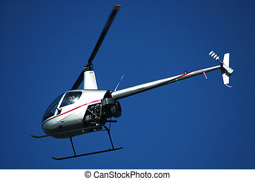 helicopter sightseeing - light helicopter on a sightseeing...