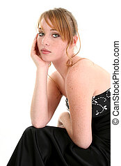 Beautiful Fourteen Year Old Girl in Formal Dress - Beautiful...