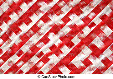 Red towel texture - Towel texture with red and white strips