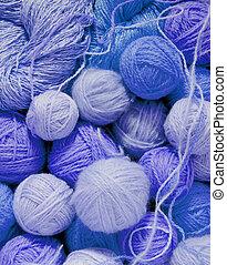 woolen balls - Light blue woolen balls
