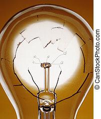 quebrada, lâmpada