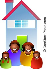 family home - family outside home