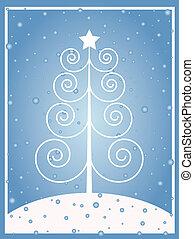 Retro Christmas - Retro styled Christmas tree