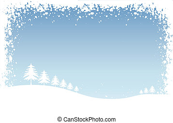Winter scene - Winter illustration