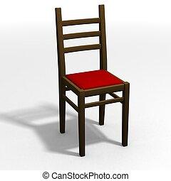 clásico, silla