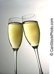 Champagne Celebratio - Toast with champagne glasses