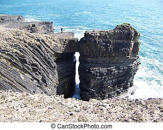 sea arch, loop head county clare , ireland