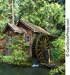 Old water wheel - Old mill