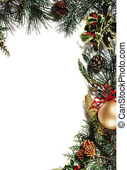 christmas ornament - white background