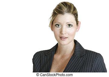 corporate 509 - portrait of a businesswoman in dark suit,...