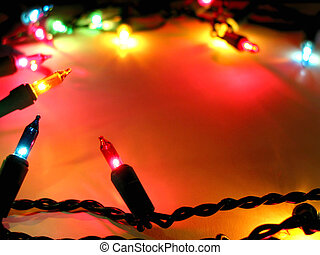 Christmas lights background - Colorful background with...