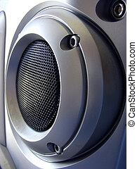 Silver Speaker - Silver stereo speaker
