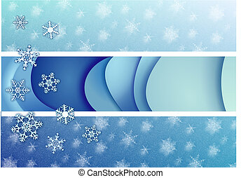 Winter blues - Rasterized vector drawing of wintercolours...