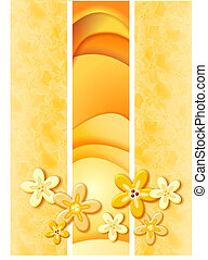 Sunny summer - Rasterized vector drawing of summer colours...