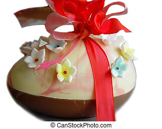 chocolate easteregg - Big chocolate easter egg decorated...