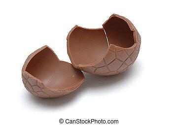 Chocolate Egg (cracked) - Gigantic Chocolate Egg (Cracked)