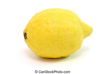 Lemon on white background