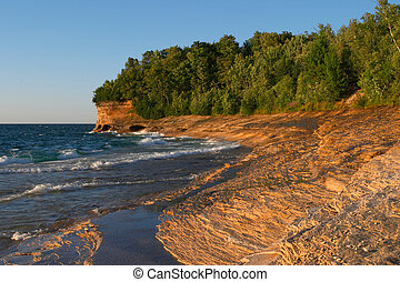 Lake Superior Sandstone Beach, Michigan