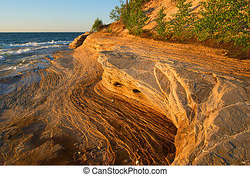 Lake Superior Sandstone Beach