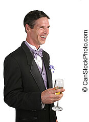Amusing Party Story - A handsome man in a tuxedo, with a...