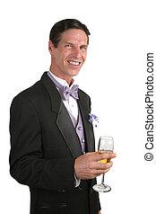 人, 在, 無尾禮服, 由于, 香檳酒, 1