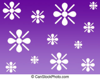 Floral flakes