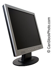TFT Flat Panel Monitor - TFT monitor isolated over white...