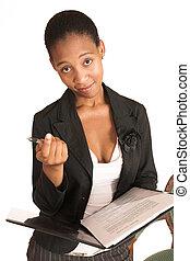 Mida Matsimela 10 - African business woman dressed in black...
