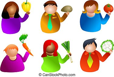 vegetable people - health and nutrition