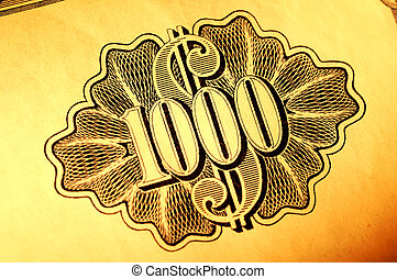 Thousand Shares - Stock Certificate Engraving
