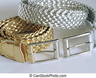 Belts - Gold and silver belts
