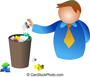 trash man - waste paper bin