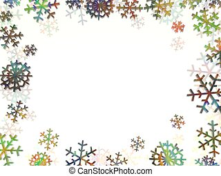 frost - multi coloured snowflakes