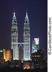Petronas Twin Tower Night Scene