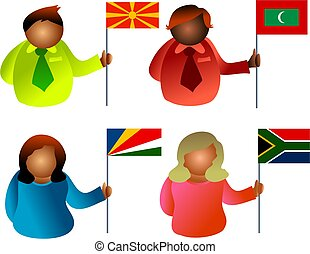 flag people - nationalities